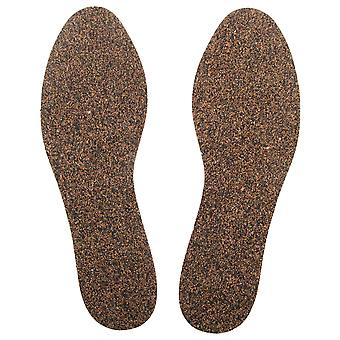 Grafters Womens/Ladies Hardwearing Natural Cork Insoles (12 Pairs)