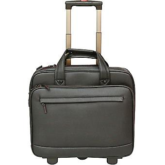 "Tassia Wheeled Laptop Case Fits Up To 15.6"" Computer Briefcase Trolley - Pilot Case"