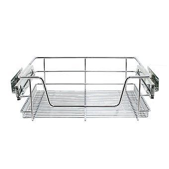 2 Pull Out Kitchen Storage Wire Baskets Tiroir Laretch Ettasse Chrome 50cm Unité
