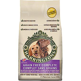 Harringtons Grain-Free Complete Dog Dry Food Rich in Turkey with Veg, 1.75kg
