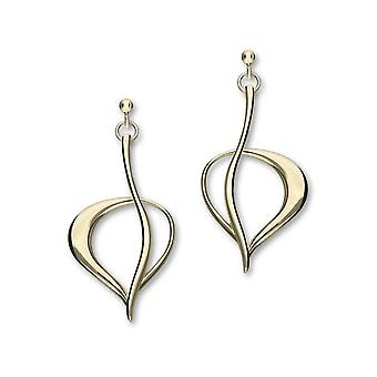 9ct Yellow Gold Traditional Contemporary Modern Leah Design Gold Pair of Earrings