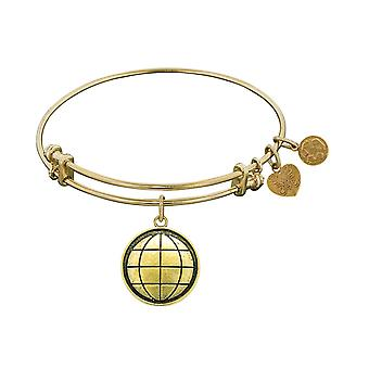 Smooth Finish Brass Earth Angelica Bangle Bracelet, 7.25""