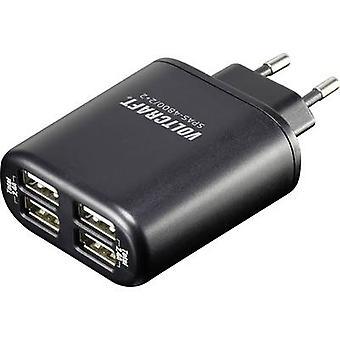 VOLTCRAFT kuuroorden-4800 / 2 + 2 kuuroorden-4800 / 2 + 2 USB lader stopcontact socket Max. uitvoer huidige 4800 mA 4 x USB