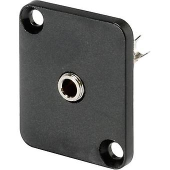 Hicon HI-J35SEFD 3.5 mm audio jack Sleeve socket, straight pins Number of pins: 3 Stereo Black 1 pc(s)