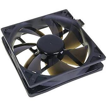 NoiseBlocker BlackSilent Pro PC fan Black (W x H x D) 120 x 120 x 25 mm