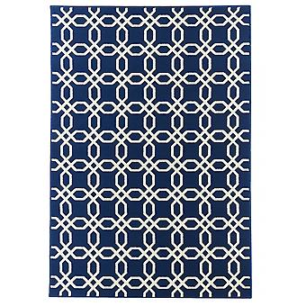 Outdoor carpet for Terrace / balcony blue white coastal living ropes Navy 160 / 230 cm carpet indoor / outdoor - for indoors and outdoors