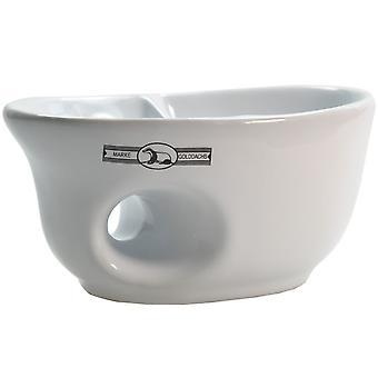 beyaz seramik tıraş kupa oval şekil - iyi bir müdahale işleme için - fırça raf ile