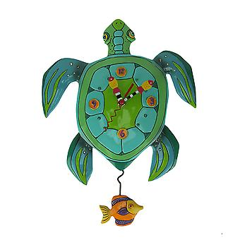 Allen Designs Sup Dude? Sea Turtle Pendulum Wall Clock