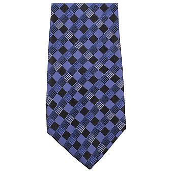 Knightsbridge Neckwear bold (realce) verificado empate - azul/preto