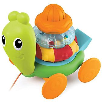 B Kids Sensory Stack and Pull Roll-a-long Snail