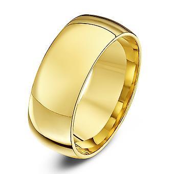 Anéis de casamento estrela 9ct ouro amarelo luz tribunal forma aliança 8mm