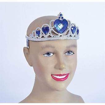 Bnov Tiara ezüst műanyag + kék kő
