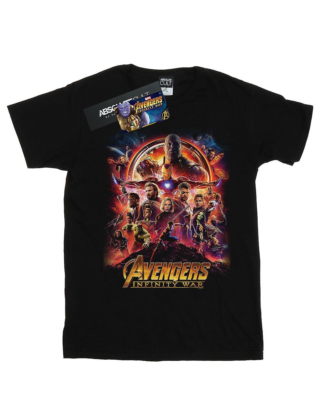 Marvel Women's Avengers Infinity War Movie Poster Boyfriend Fit T-Shirt