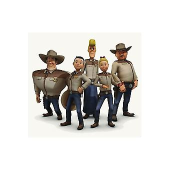Children's costumes Children Jerommeke shirt with muscles cowboy