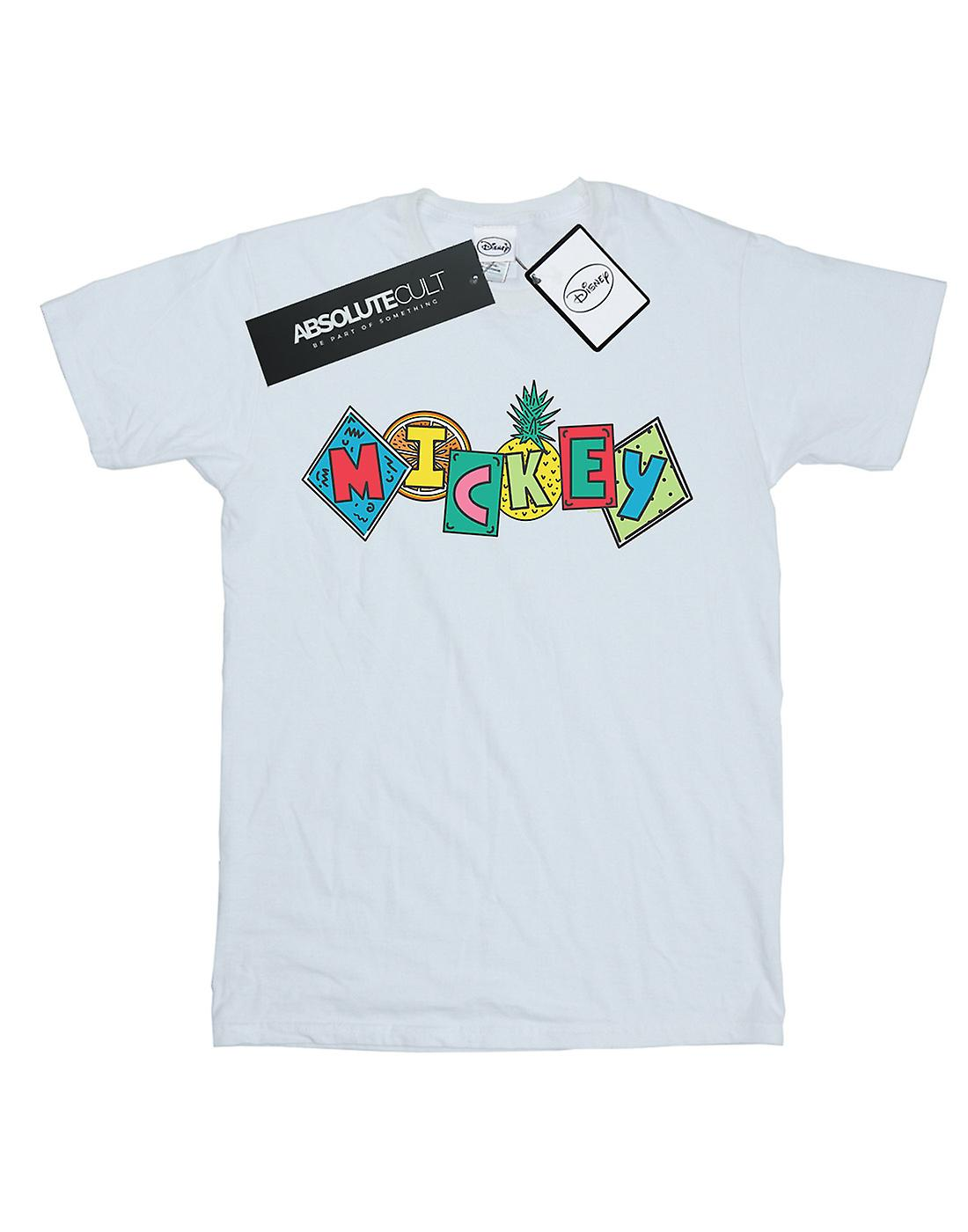Disney Boys Mickey Mouse Fruit Blocks T-Shirt