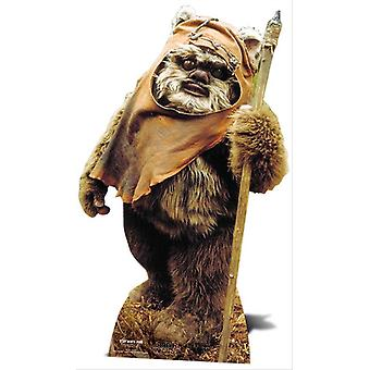 Wicket The Ewok Star Wars Lifesize papp åpning / Standee / Standup