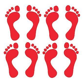 Set of 4 Pairs Quality Vinyl Footprint Stickers