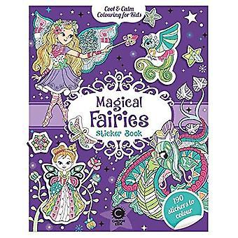Cool & ruhige Farbgebung für Kinder magische Feen Sticker Book