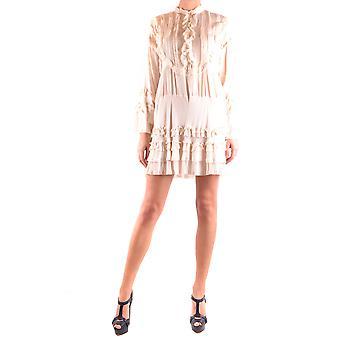 Aniye By Ezbc098001 Women's White Viscose Dress