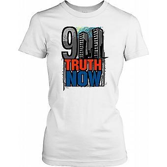 911 truth nå - Twin Towers - konspirasjon damer T skjorte