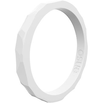 Enso Rings Hammered Stackables Series Silicone Ring - White