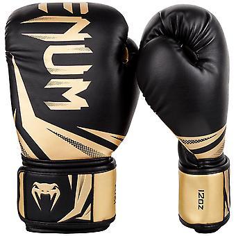 Venum Challenger 3.0 gancho y bucle de boxeo Guantes de entrenamiento - negro/oro