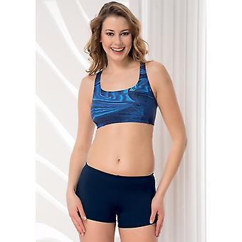 Aqua Perla - Womens - sportief - korte van de Blue-Bikini Bottom