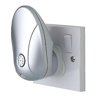 Firstlight-LED 1 Light Projector Night Light Silver, RGB-8371RGB