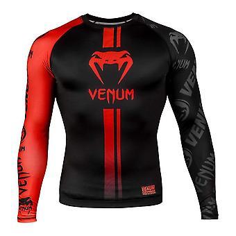 Venum logos protège-rash à manches longues noir/rouge