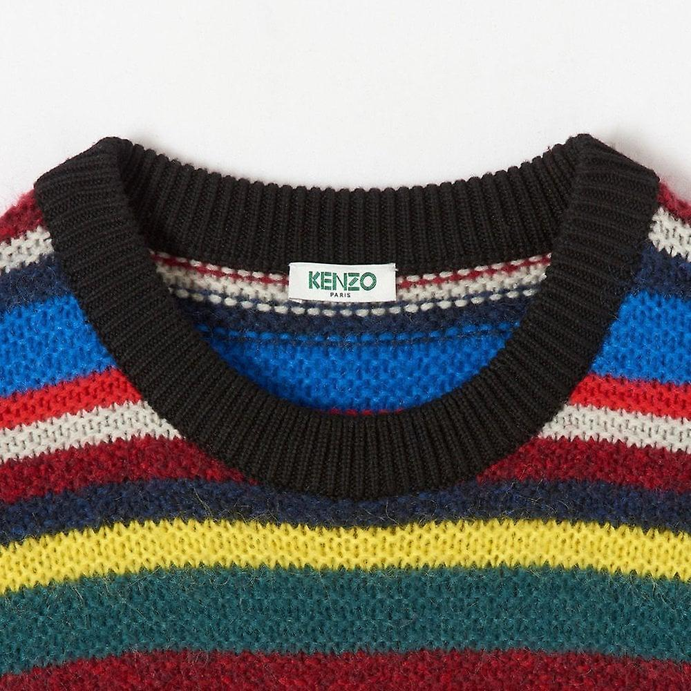 Kenzo Jumping Tiger Colour Block Sweater Multicoloured