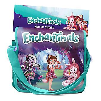 Enchantimals My Filled School Satchel Bag z 24pcs Kreatywne akcesoria