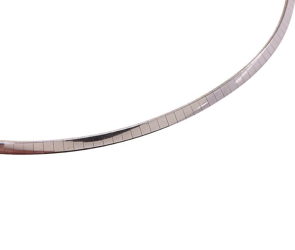 Kaufen Sie Ihren Favoriten Fantastisk pris Weißes Gold Omega Halskette Flat gaMl4