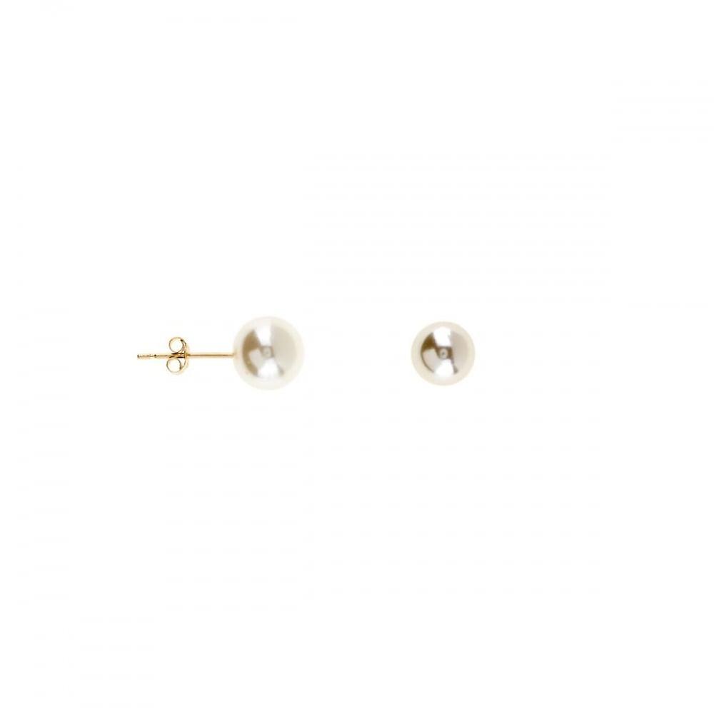 Eternity 9ct Gold 8mm Pearl Stud Earrings