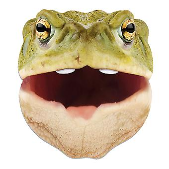 Toad Animal Single 2D Card Party Fancy Dress Mask