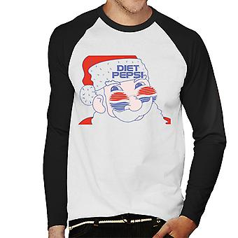 Pepsi Cool Santa Men's Baseball Long Sleeved T-Shirt