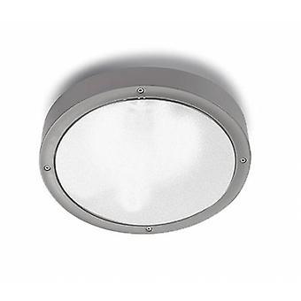 1 luce piccolo soffitto esterno grigio chiaro IP65