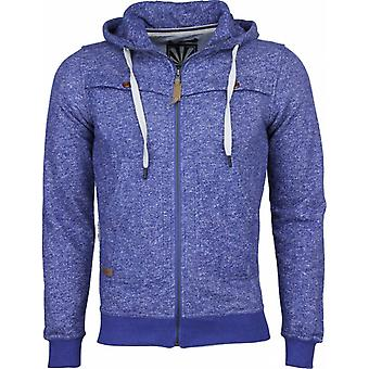 Casual Vest - Chambray Motif Hood - Blue