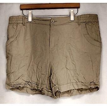 Basic Editions voor zakken kaki beige shorts Womens