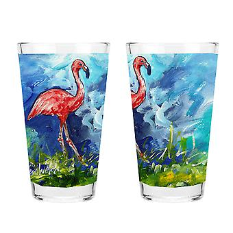 Carolines Treasures MW1174PINT Flamingo 16 unssin sekoitus lasia