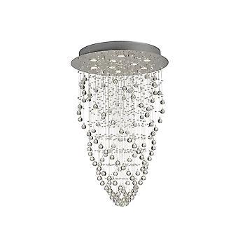 Diyas Colorado hänge Cone 9 ljus polerad krom/kristall