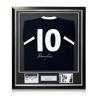 Denis Law Signed Scotland Football Shirt 1967. Number 10. Framed