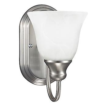 Sea Gull Lighting 41939BLE-962 1 Light Wall / Bath Sconce Brushed Nickel Finish