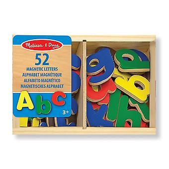 Melissa & Doug 52 Wooden Alphabet Magnets in a Box