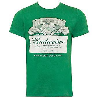 Budweiser St. Patricks Day Green Label Tee Shirt