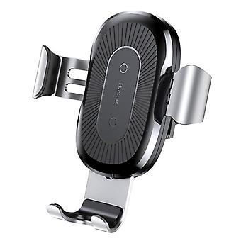 """Baseus car holder with QI charging, Universal 4-6 """", Silver"""