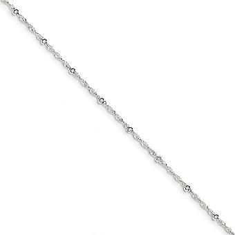 925 Sterling Silber poliert Frühling Ring mit 1 zoll Ext Fancy Armband 7 Zoll Schmuck Geschenke für Frauen