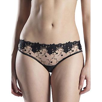 Aubade OD94 Women's La Belle aux Camelias Hypnotique Black Floral Embroidered Hipster