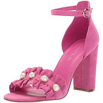 Marc Fisher Womens King Pearl Ruffle tweedelige sandalen stof open teen casual...