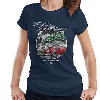 Volkswagen Drive This Christmas Camper Women's T-Shirt