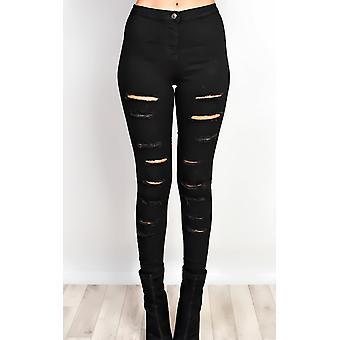 IKRUSH Womens Kathie Ripped Skinny Jeans
